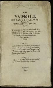 bookeofpsalmes